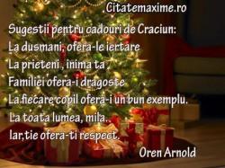 Sugestii pentru cadouri de Craciun La dusmani ofera-le iertare La prieteni inima ta