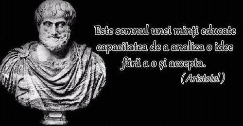 citate despre educatie aristotel Este semnul unei minti educate capacitatea dea analiza o idee fara  citate despre educatie aristotel
