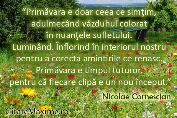 citate celebre despre primavara Primăvara e doar ceea ce simţim, adulmecând văzduhul colorat în  citate celebre despre primavara